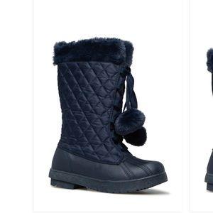 Shoedazzle navy blue snow boots